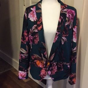 Anthropologies  flowery open front jacket size 6